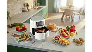 Fríe, hornea, cocina a la parrilla, asa e incluso recalienta.
