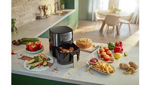 Permet de frire, cuire, griller, rôtir et même réchauffer