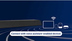 Connects to your favourite voice assistant-enabled devices