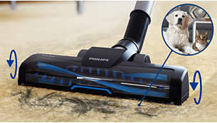 Turbo brush, perfect for (pet) hair and fluff cleaning