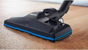 El cepillo TriActive Pro recoge las partículas de polvo más pequeñas para una limpieza en profundidad