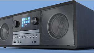 Geïntegreerd Bass Reflex-luidsprekersysteem
