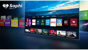 Acceso con un solo botón a las aplicaciones como Netflix y YouTube.
