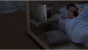 Ruhemodus: Leise und dennoch effiziente Luftbefeuchtung