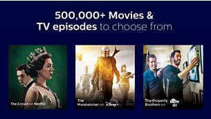 500,000+ Movies & TV episodes