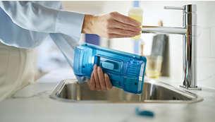 Voeg schoonmaakmiddel toe om 99% van de bacteriën te verwijderen*