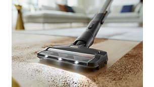Het 360-zuigmondstuk vangt tot 99,7% van het stof en vuil op*