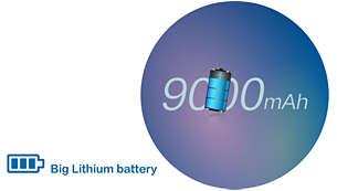 Pin Lithium lớn: Chế độ chờ lên đến 90 ngày