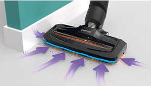 每次清洁均可捕获多达 98% 的灰尘和污垢*2