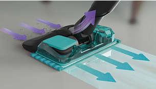 吸尘、湿拖和手持式吸尘器可去除多达 99% 的细菌*3
