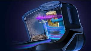 第十代飓风离尘技术可确保更持久地保持更强劲性能