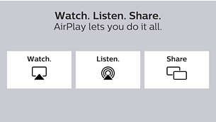 Watch. Listen. Share. AirPlay lets you do it all.