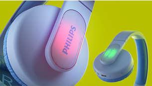 Lõbusad ja värviliste valguspaneelidega kõrvaklapid