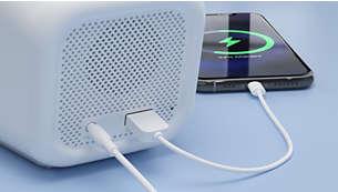 USB-Anschluss. Laden Sie Ihr Telefon auf