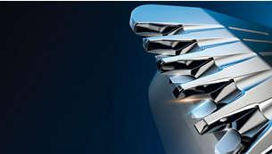 Rendimiento superior con cuchillas autoafilables de titanio