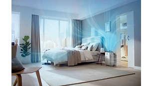 أداء عالٍ يناسب الغرف بحجم يصل إلى 79 م²
