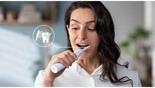 Der integrierte Drucksensor schützt Ihre Zähne und Ihr Zahnfleisch
