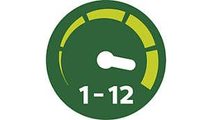 12 posiciones de velocidad