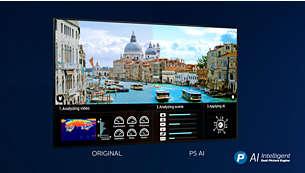 Immagini realistiche, con qualsiasi contenuto. P5 AI con doppio processore.