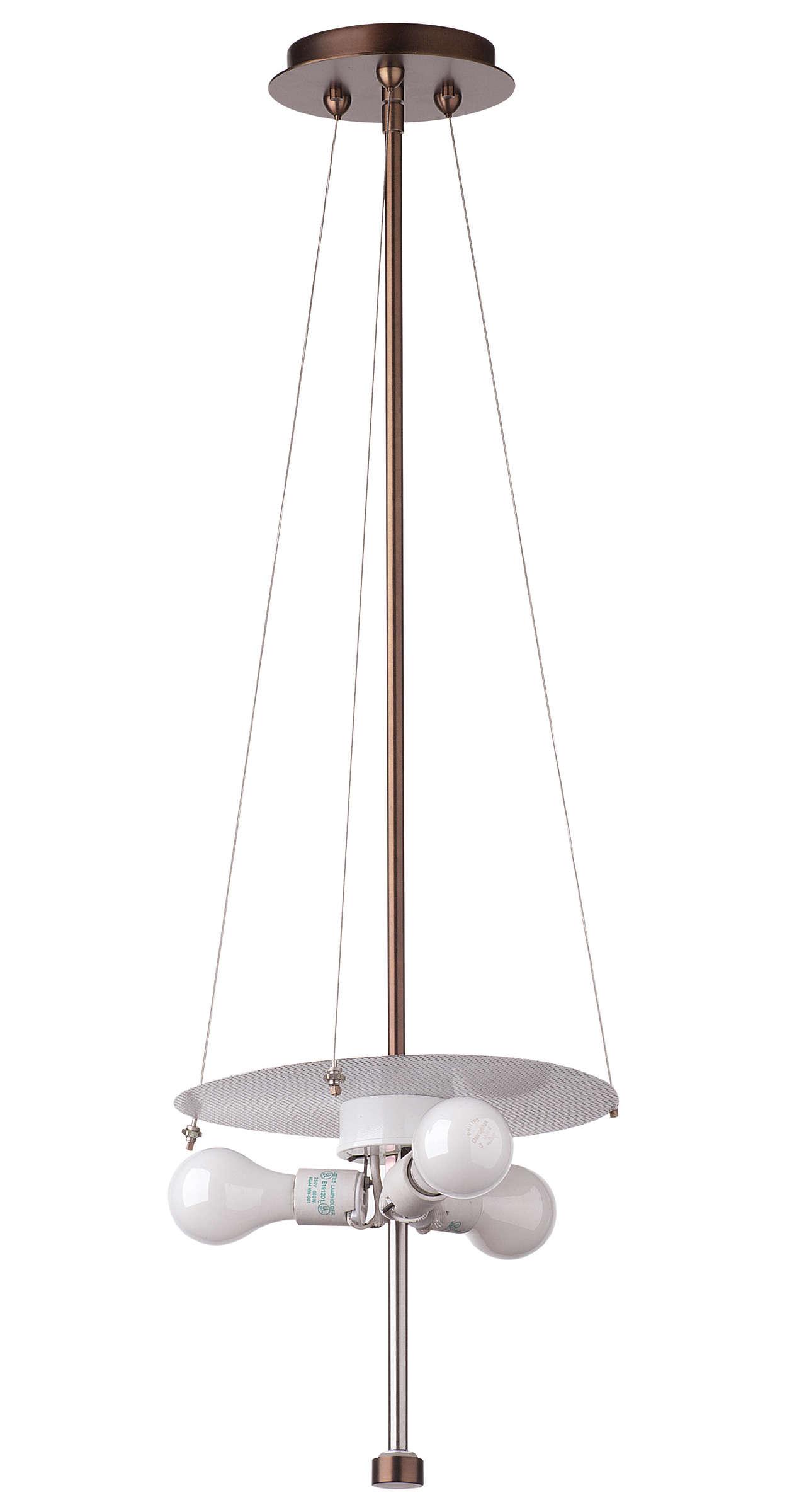 Taylor 3-light Pendant in Merlot Bronze finish