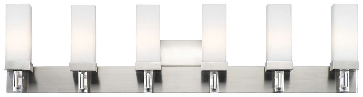 Casa 6-light Bath in Satin Nickel finish