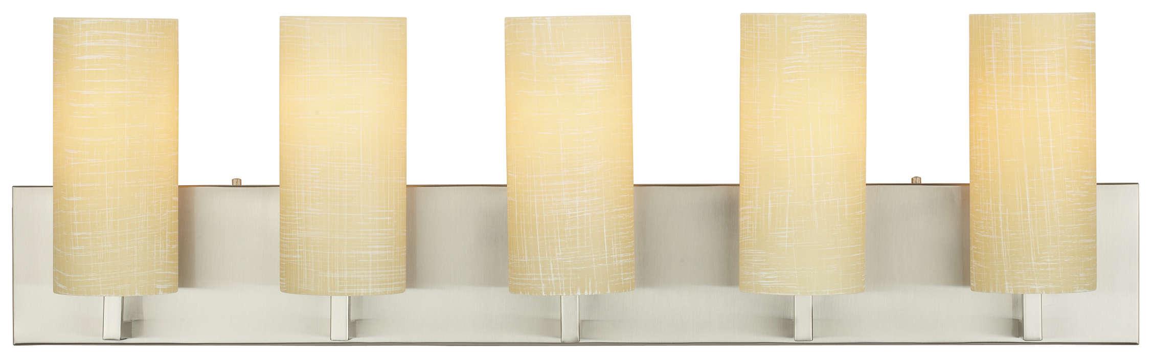 Cambria 5-light Bath in Satin Nickel finish