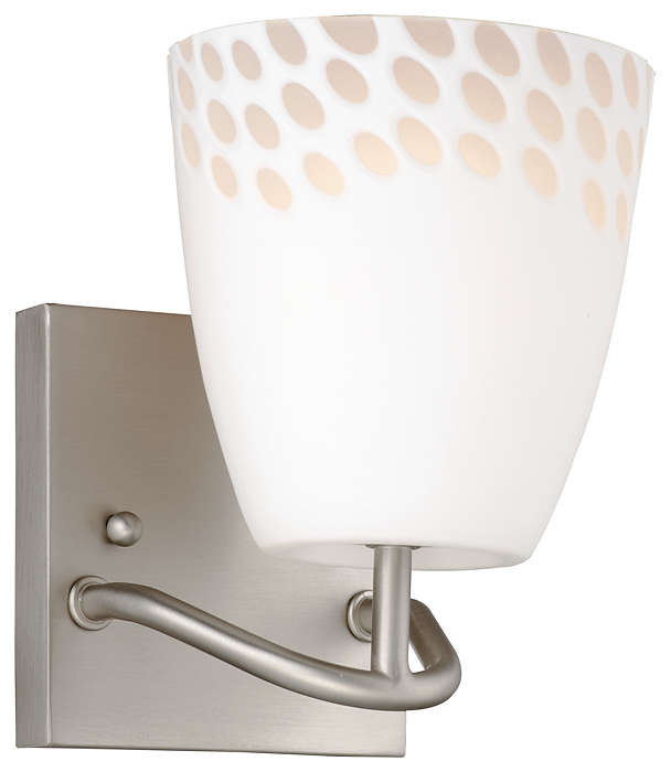 Daybreak 1-light Bath in Satin Nickel finish