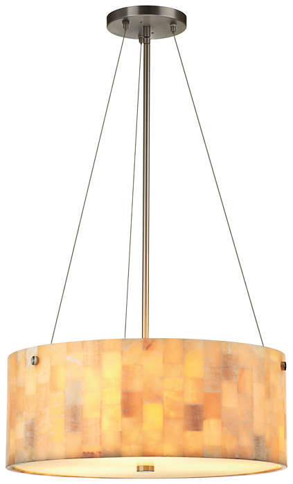 Hudson 3-light Pendant in Satin Nickel finish