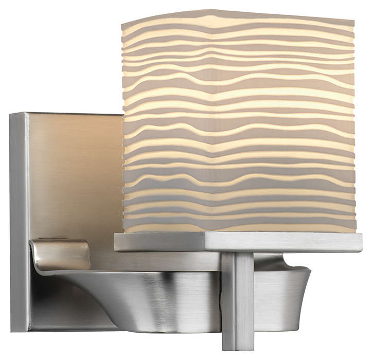 Isobar 1-light Bath in Satin Nickel finish
