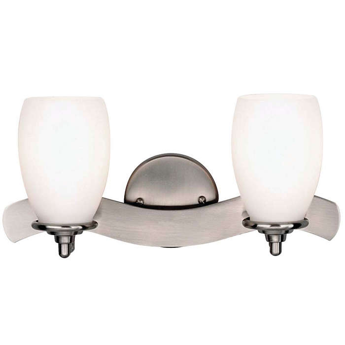 Aquarius 2-light Bath in Satin Nickel finish
