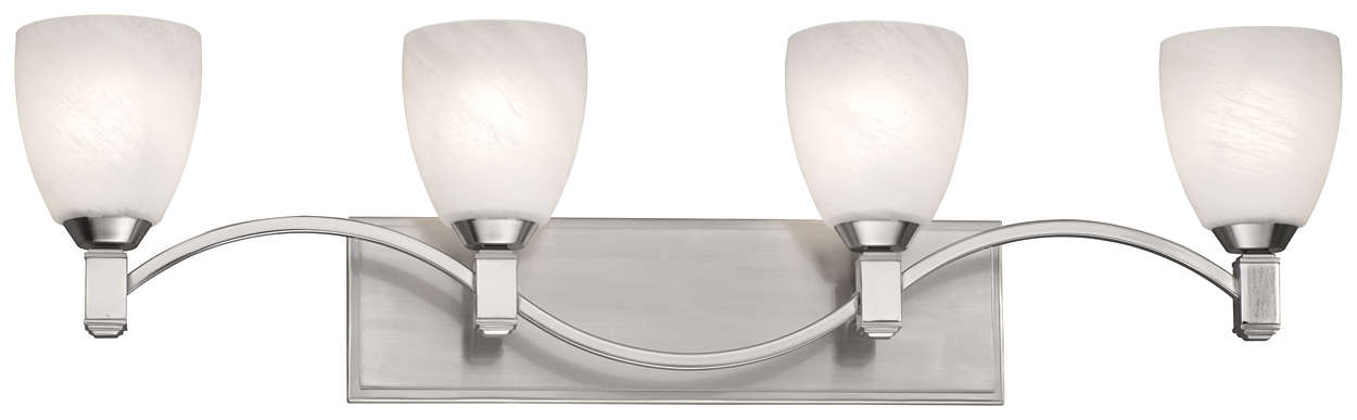 Crescendo 4-light Bath in Satin Nickel finish