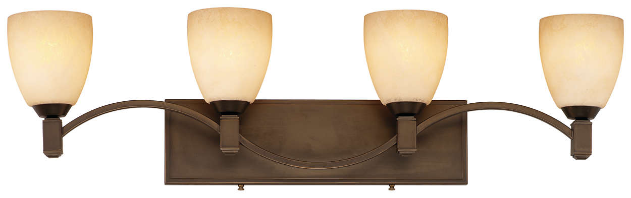 Crescendo 4-light Bath in Merlot Bronze finish