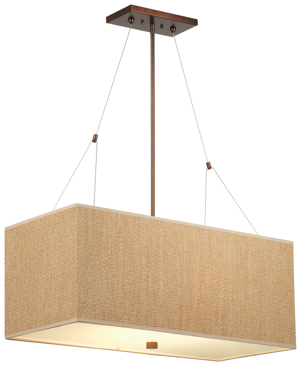 Alexis 3-light Pendant in Merlot Bronze finish