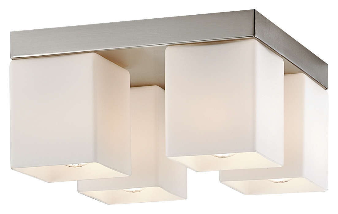 Vancouver Island 4-light Ceiling, Satin Nickel
