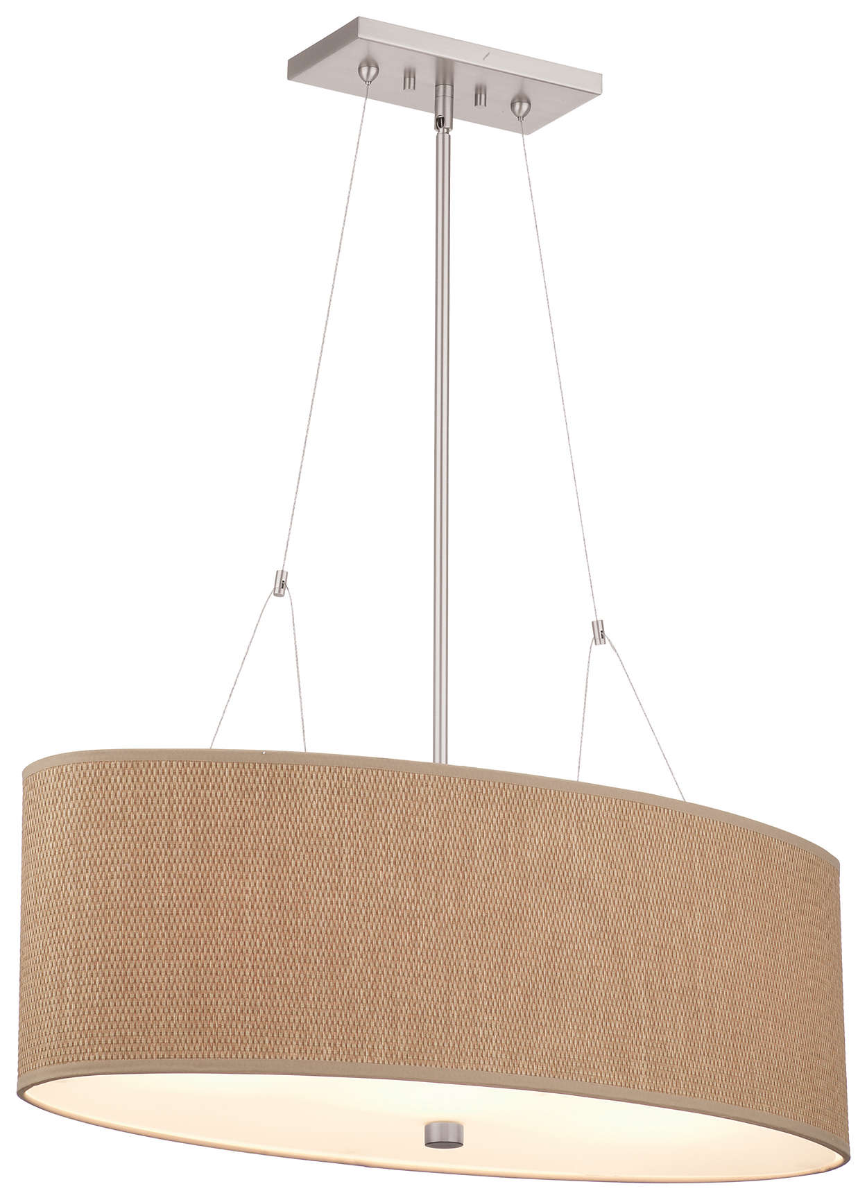 Alexis 3-light Pendant in Satin Nickel finish