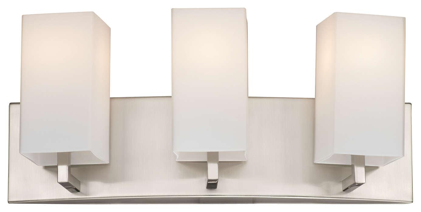 Avenue 3-light Bath in Satin Nickel finish
