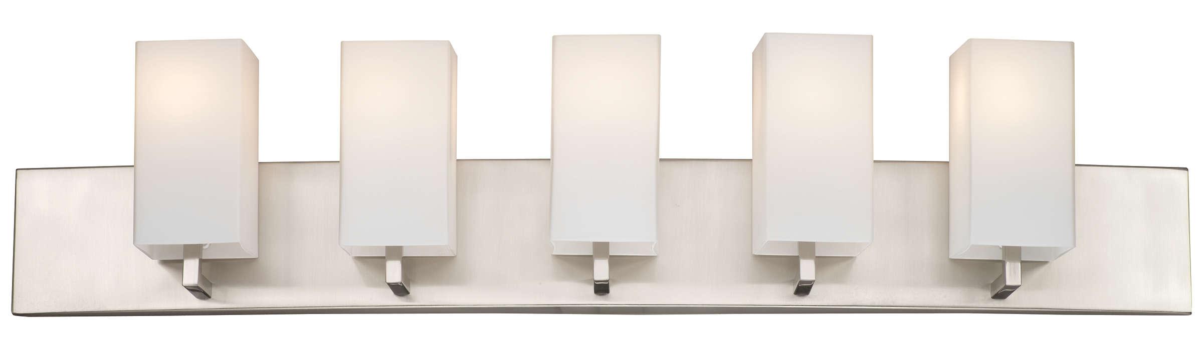 Avenue 5-light Bath in Satin Nickel finish