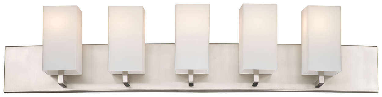 Avenue 5-light Bath in Satin Nickel finish