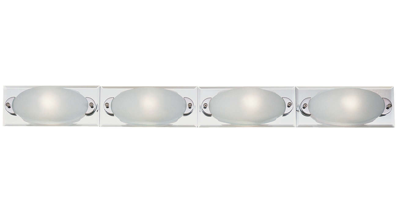 Sophie 4-light Bath, brass or nickel finish