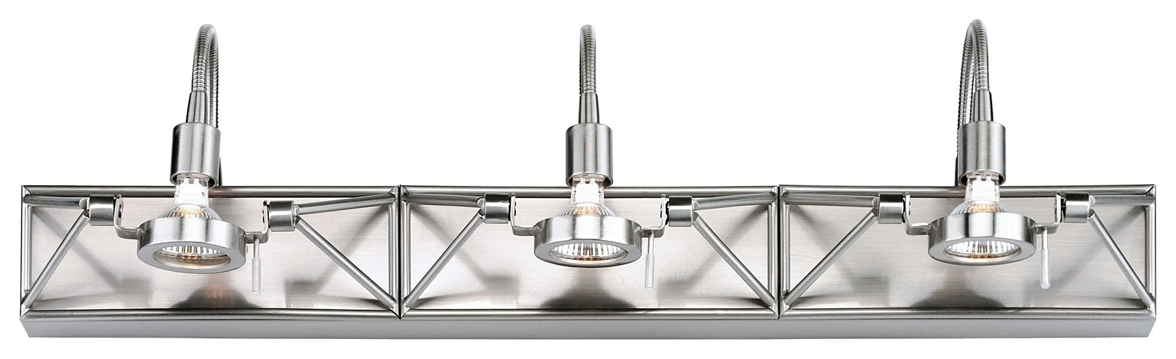 Backstage 3-light Bath in Satin Nickel finish