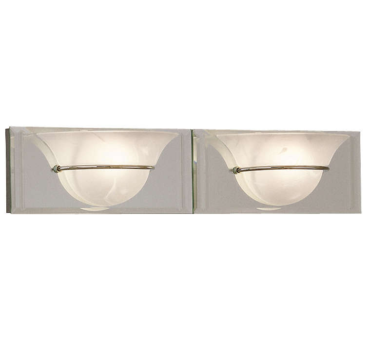 Essence 2-light Bath, brass or nickel finish