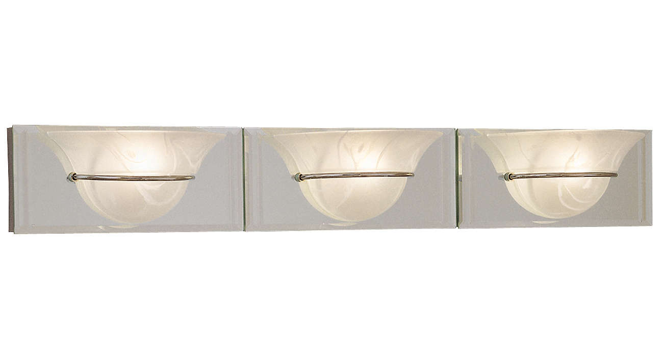 Essence 3-light Bath, brass or nickel finish