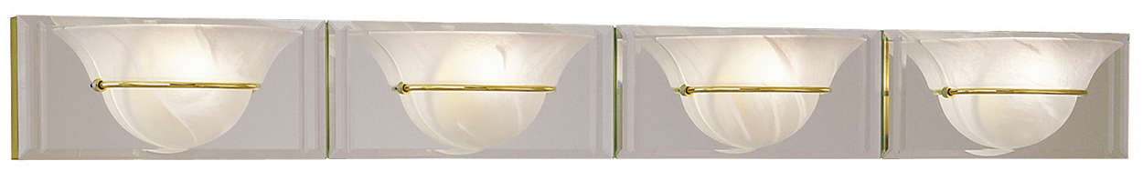 Essence 4-light Bath, brass or nickel finish