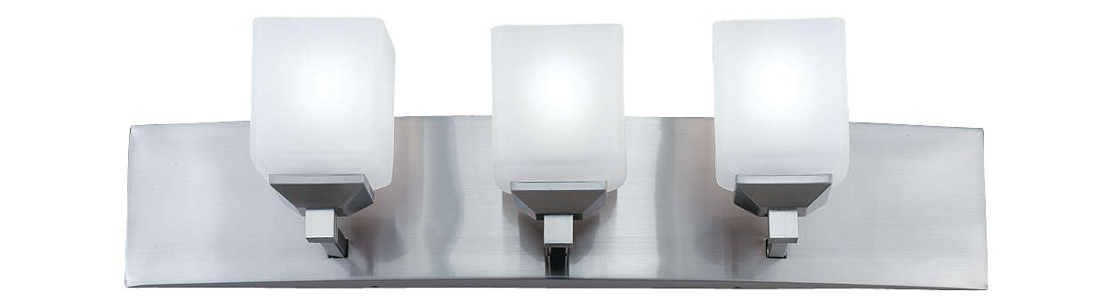 Radius 3-light Bath in Satin Nickel finish