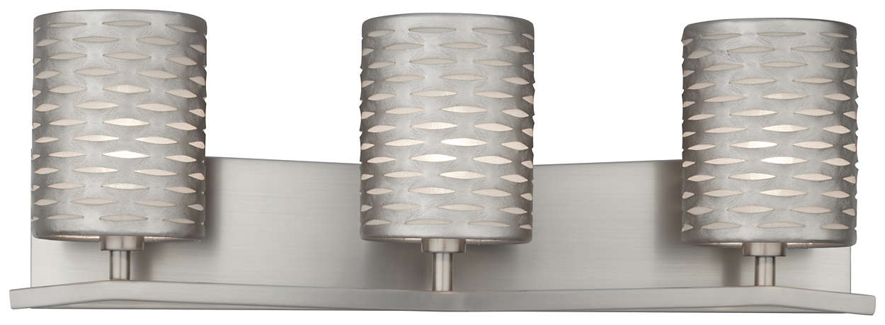 Cabaret 3-light Bath in Satin Nickel finish