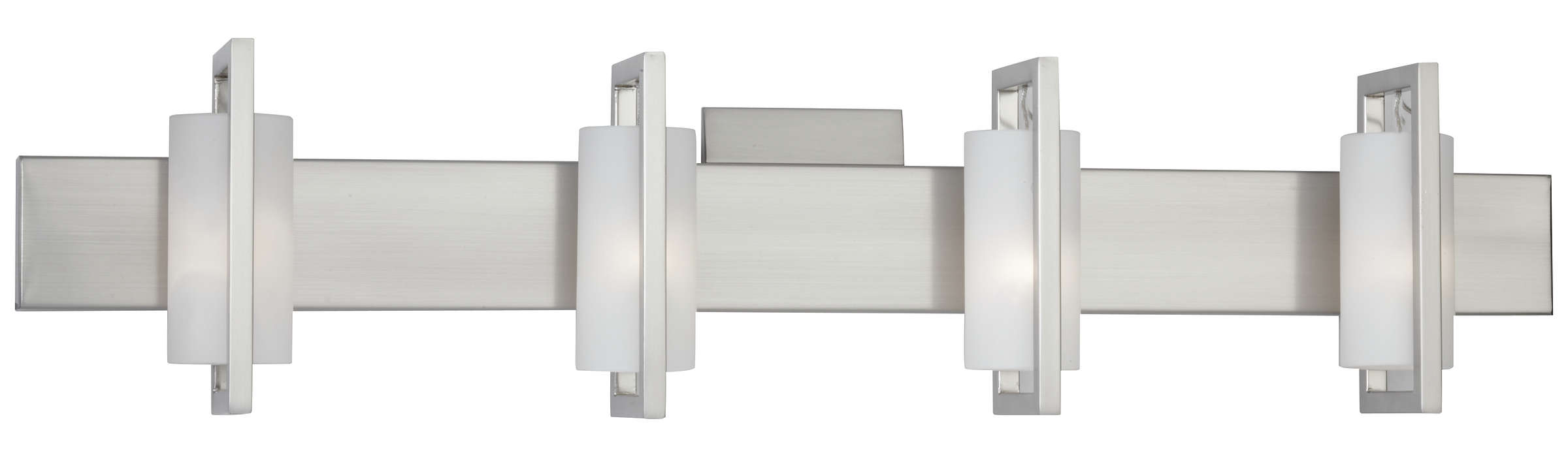 Front Row 4-light Bath in Satin Nickel finish