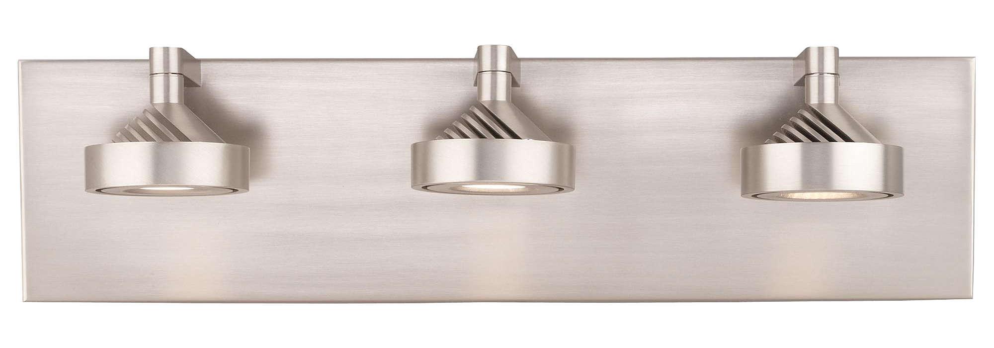 Yo-Yo 3-light LED Bath in Satin Nickel finish