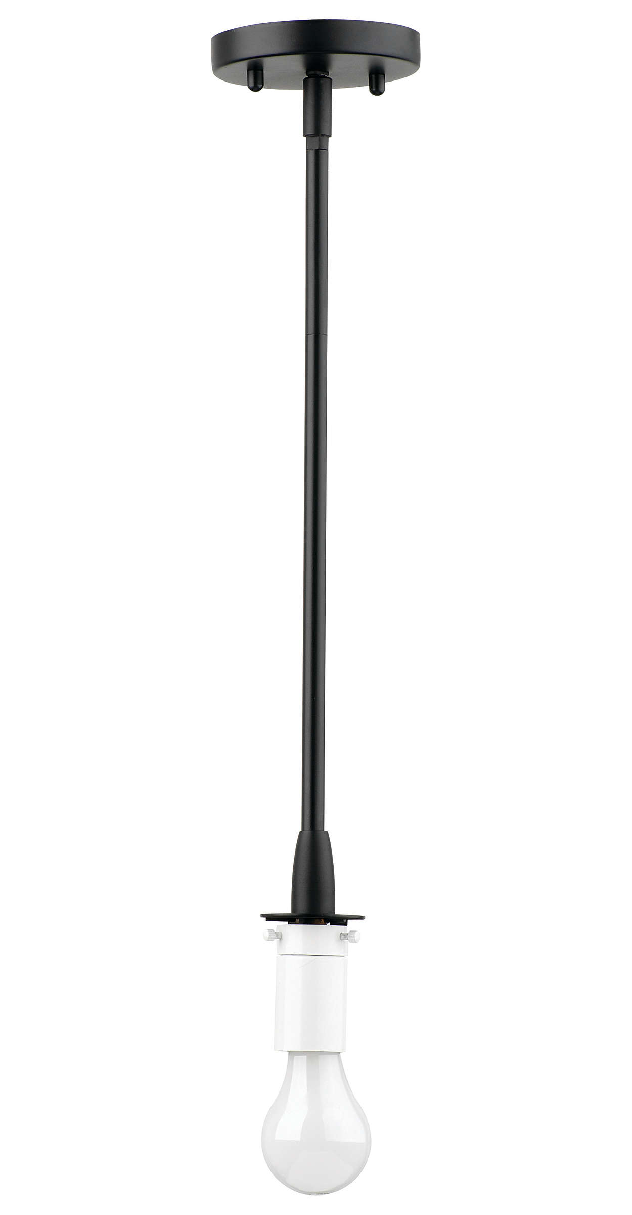 Suspension 1-light Pendant in Black finish