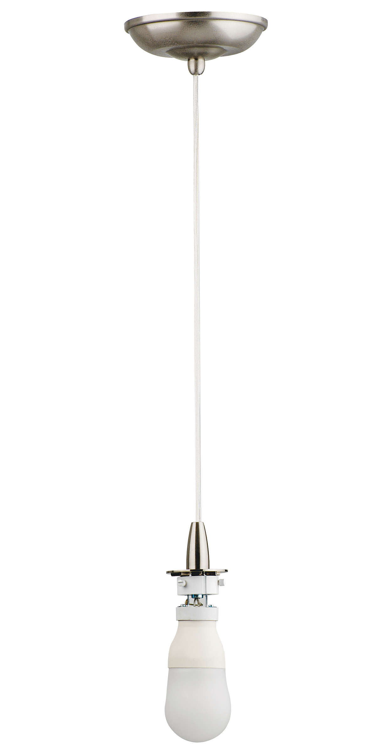 Suspension 1-light Pendant in Satin Nickel finish