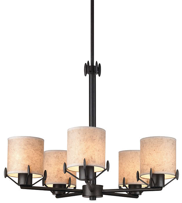 Urban Oasis 5-light Chandelier, Bronze Luster